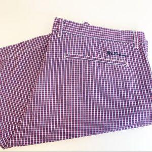 Ben Sherman plaid checkered shorts flat front